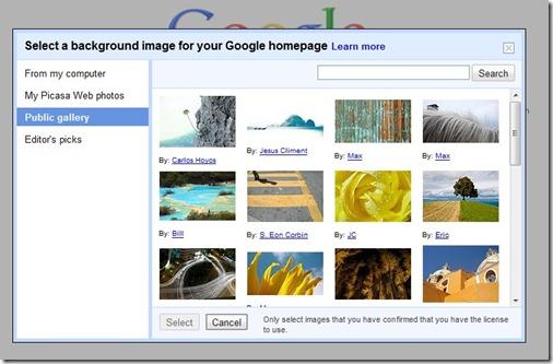 Google自定义背景图片选择