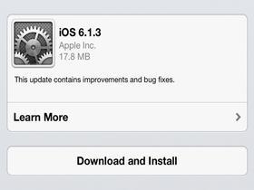 iOS 6.1.3正式发布 修复锁屏漏洞