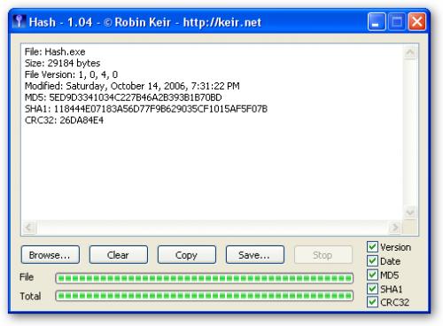 MD5、SHA1、CRC32三合一计算工具Hash