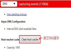 Chrome浏览器清除dns缓存方法
