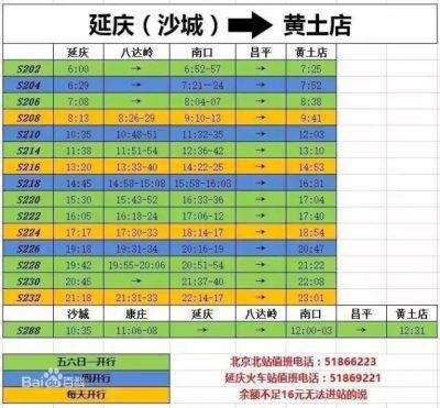 开往春天的列车北京北站市郊S2线最新时刻表