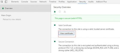 Chrome浏览器隐藏SSL证书信息