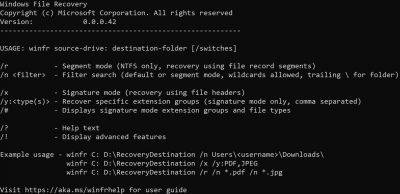 微软已删除文件恢复工具Windows File Recovery介绍及其使用方法